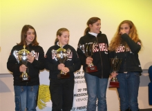 Rachele Rossi, Arianna Mazzoni , Carolina Manzini e Olga Salarpi