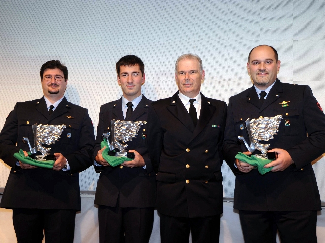 Marco Galiazzo, Mauro Nespoli e Michele Frangilli